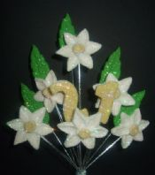 Daffodil / Narcissus 21st birthday cake topper decoration - free postage